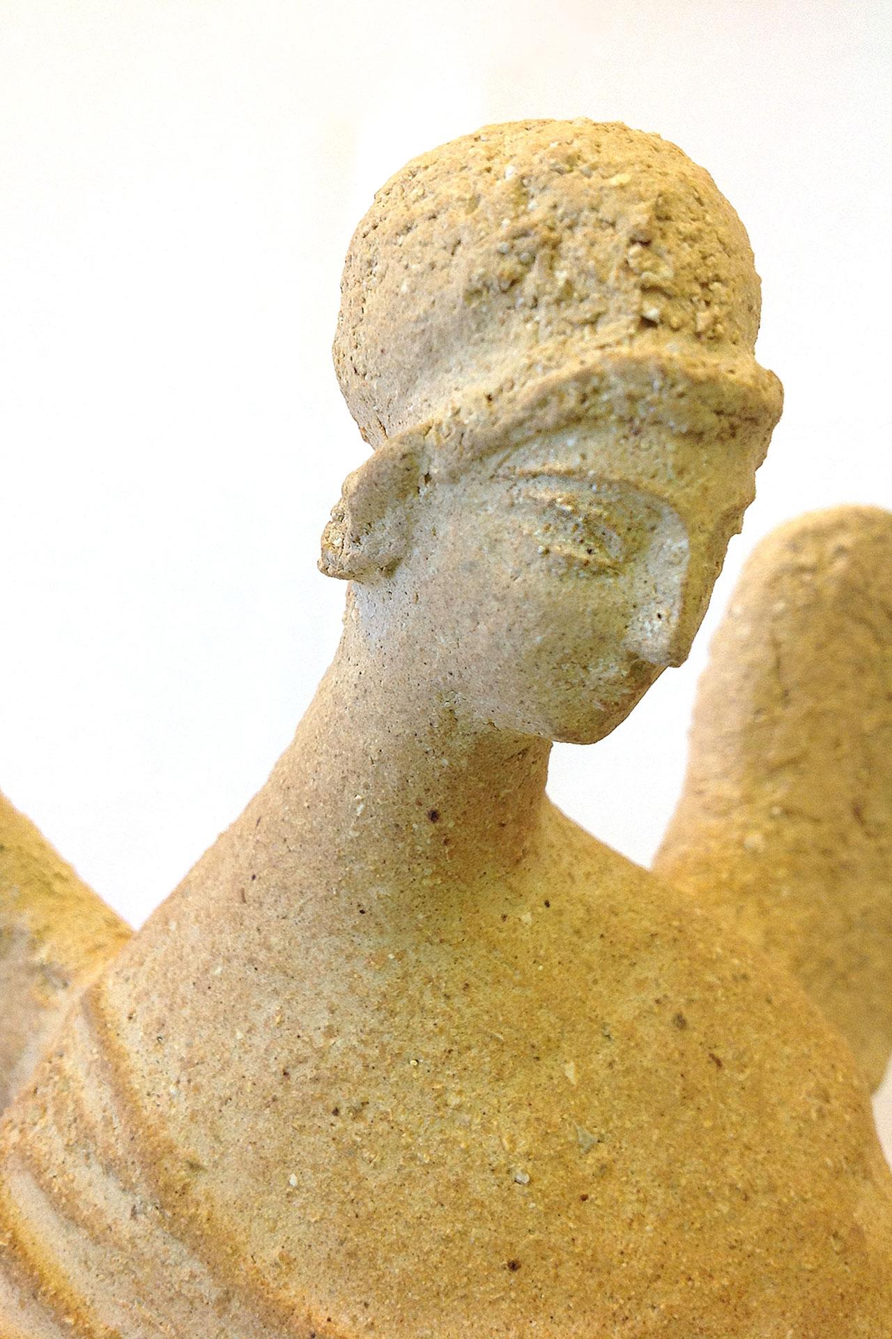 Скульптура из шамота Натальи Чепкасовой